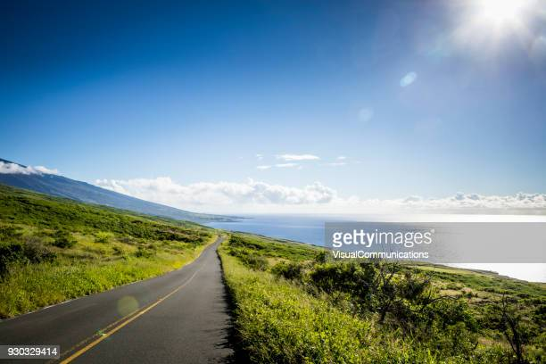 rocky shorline on maui, hawaii. - sunny stock photos and pictures
