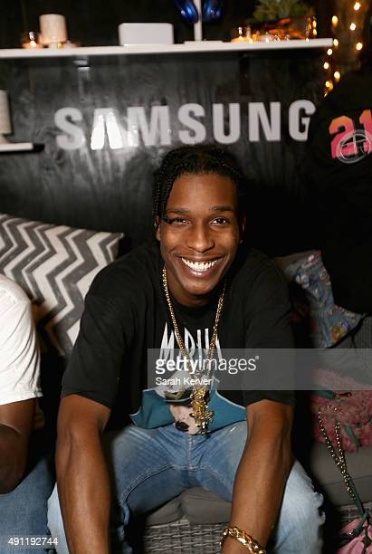 Rocky stops by the Samsung Galaxy Owner's Lounge during Austin City Limits on October 3 2015 in Austin Texas