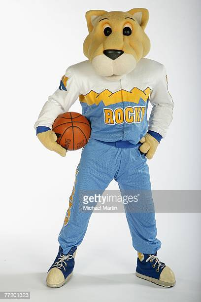 Rocky the mascot for the Denver Nuggets poses for a portrait during NBA Media Day at the Pepsi Center on October 1 2007 in Denver Colorado NOTE TO...