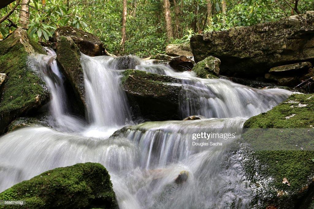 Rocky waterfall : Stock Photo