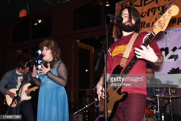 Rockyanne Bullwinkel and Justin Smith of The Reputations perform onstage at Nine Mile Records and Touring during the 2019 SXSW Conference and...