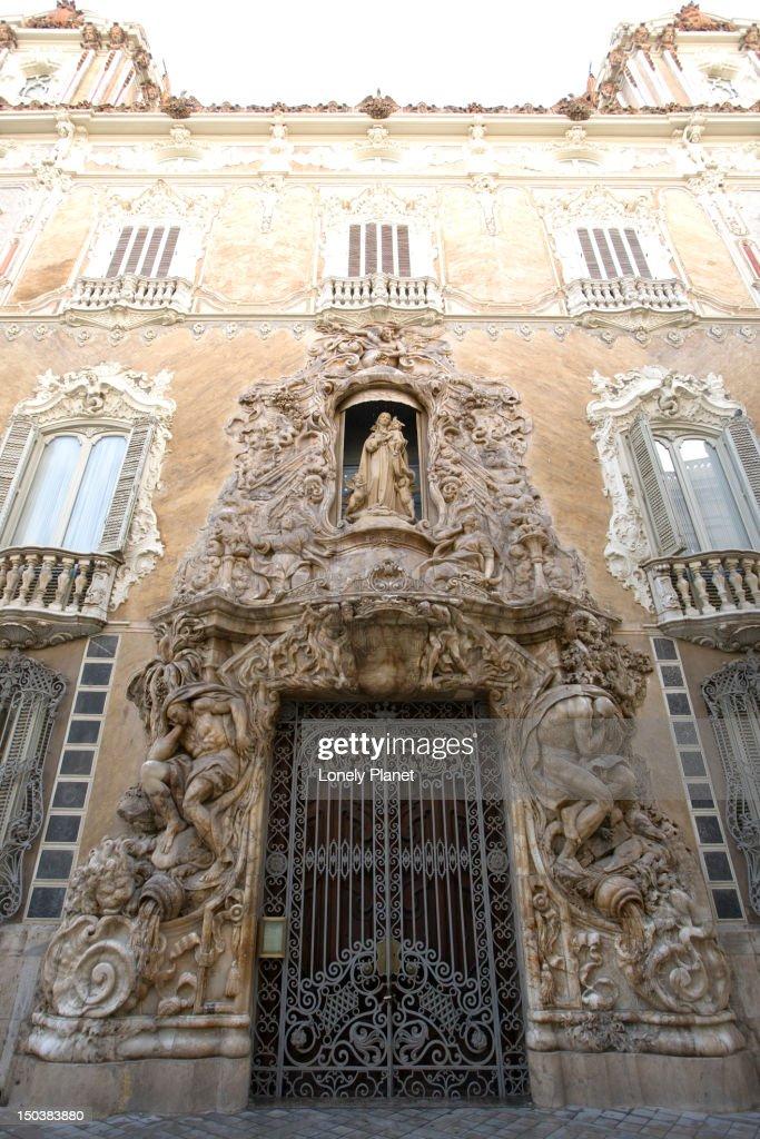 Museo Nacional De Ceramica.Rococo Portal Of The Museo Nacional De Ceramica Central Stock Photo