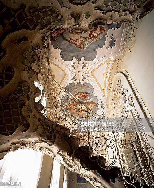 Rococostyle staircase Gallery Palazzo Biscari Catania Sicily Italy 18th century