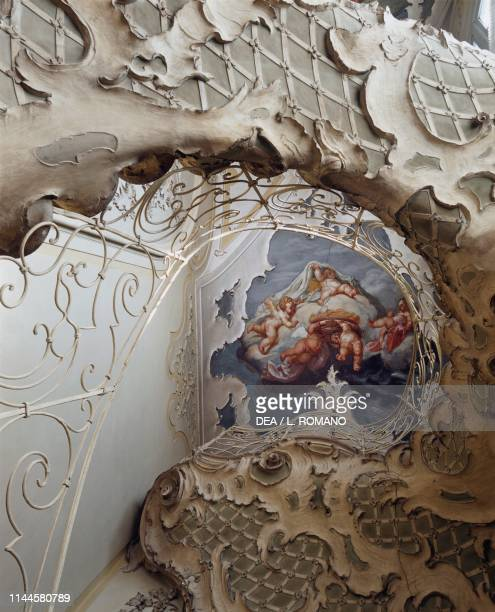 Rococostyle stucco staircase by Antonio Pepe Biscari palace Catania Sicily Italy 18th century