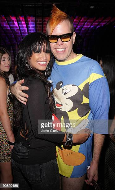 Rocsi and Perez Hilton attends the CocoPerezcom launch party at Juliet on September 15 2009 in New York City