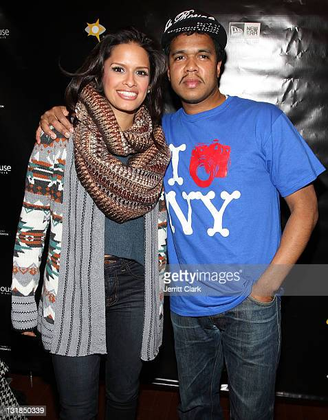 Rocsi Diaz and Johnny Nunez attend Johnny Nunez New Era Cap Launch at New Era Flagship Store on December 1 2010 in New York City