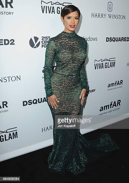 Rocsi Diaz arrives at amfAR's Inspiration Gala Los Angeles at Milk Studios on October 29 2015 in Hollywood California