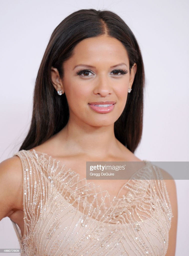 Rocsi Diaz arrives at the 21st Annual Race To Erase MS Gala at the Hyatt Regency Century Plaza on May 2, 2014 in Century City, California.