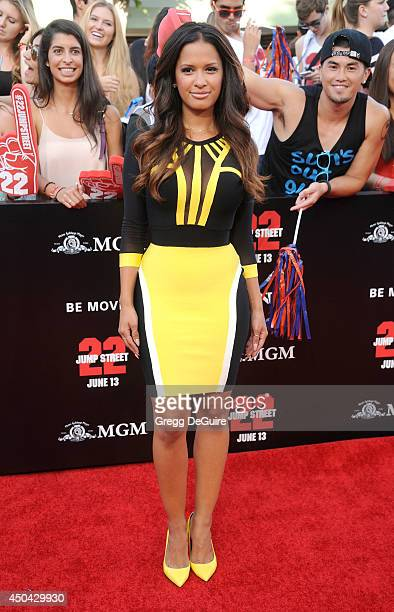 Rocsi Diaz arrives at the Los Angeles premiere of 22 Jump Street at Regency Village Theatre on June 10 2014 in Westwood California