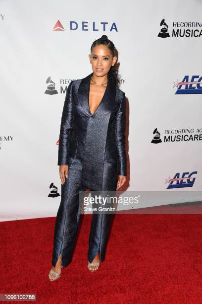 Rocsi Diaz attends MusiCares Person of the Year honoring Dolly Parton at Los Angeles Convention Center on February 8 2019 in Los Angeles California