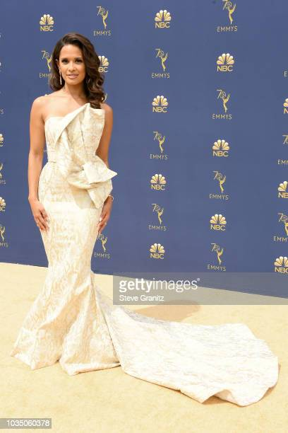 Rocsi Diaz attends the 70th Emmy Awards at Microsoft Theater on September 17 2018 in Los Angeles California