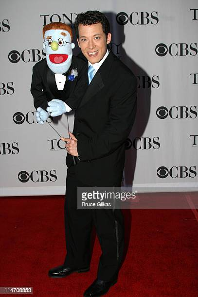 Rod and John Tartaglia from Avenue Q Presenter for Best Performance by a Featured Actor in a Musical