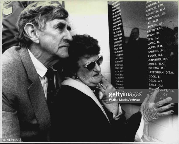 Rod and Pauline Earle point to their son's name on the memorial.Troy Dominish decided to be be a policeman when his father, Constable Bob Dominish,...