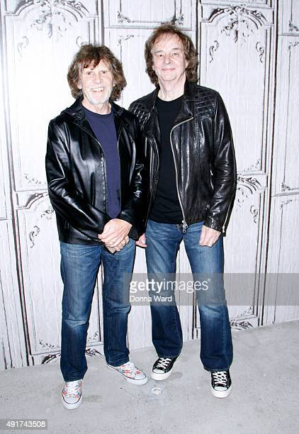 """Rod Argent and Colin Blunstone of The Zombies appear to promote the 50th Anniversary of their release """"Odyssey and Oracle"""" during the AOL BUILD..."""