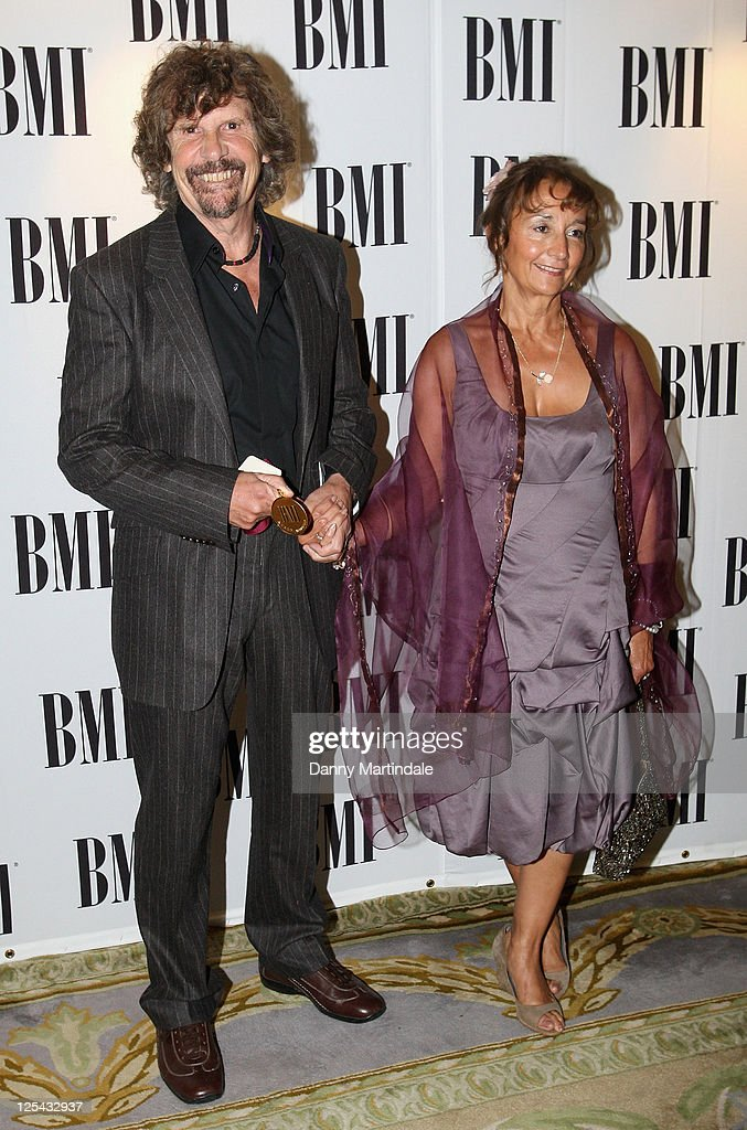 Rod Argent and guest arrive at BMI Awards at The Dorchester on October 5, 2010 in London, England.