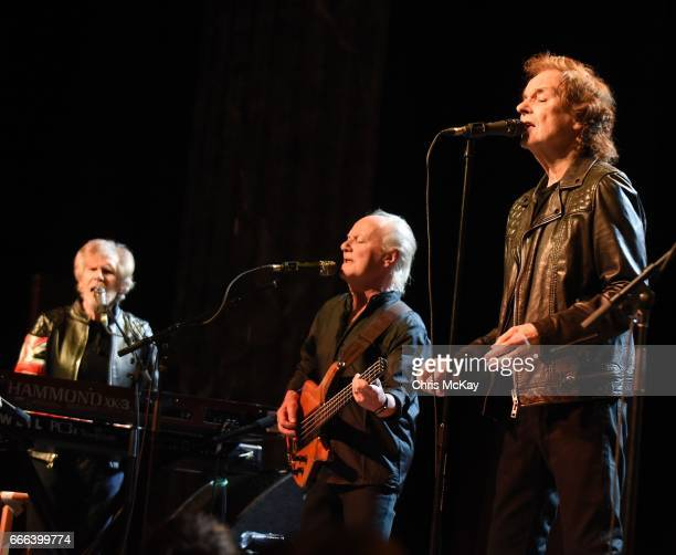 Rod Argent Jim Rodford and Colin Blunstone of The Zombies perform at Variety Playhouse on April 8 2017 in Atlanta Georgia