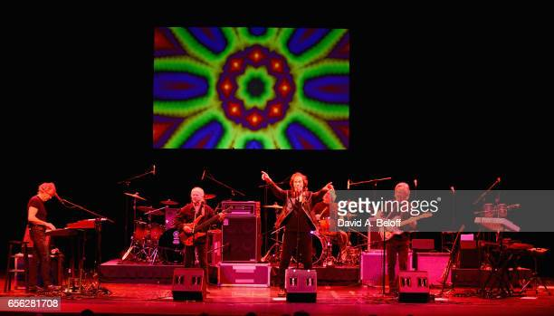 Rod Argent Jim Rodford Colin Blunstone Tom Toomey and Steve Rodford of The Zombies perform at Sandler Center For The Performing Arts on March 21 2017...