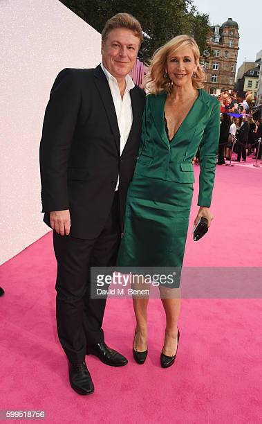 Rod Barker and Tania Bryer attend the World Premiere of 'Bridget Jones's Baby' at Odeon Leicester Square on September 5 2016 in London England