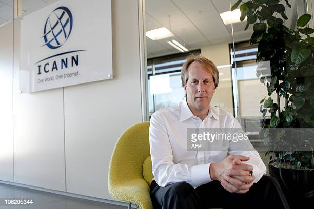 Rod Beckstrom, chief executive officer and president of Internet Corporation for Assigned Names and Numbers , poses for a portrait at his company's...
