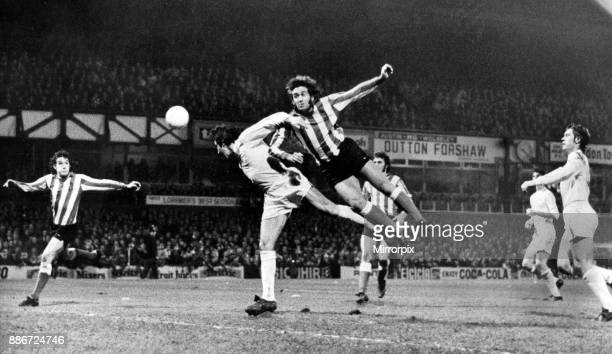 Rod Belfitt, Sunderland's new signing just fails to make contact with a hard cross into the goalmouth in the League Cup match between Sunderland and...