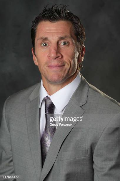 Rod Brind'Amour, Head Coach of the Carolina Hurricanes, poses for his official headshot for the 2019-2020 season on September 17, 2015 at Carolina...