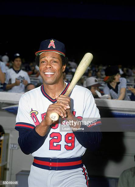 Rod Carew of the California Angels poses before a game against the New York Yankees at Yankee Stadium in the Bronx, New York. Rod Carew played for...
