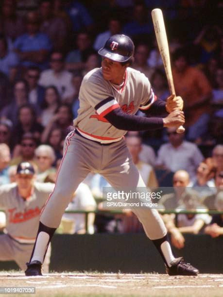 Rod Carew of the Minnesota Twins at bat during a game from his 1972 season with the Minnesota Twins Rod Carew played for 19 years with 2 different...