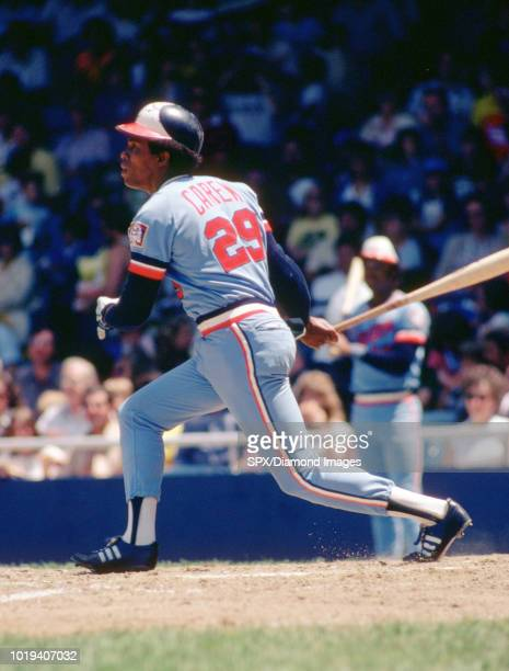 Rod Carew of the Minnesota Twins at bat during a game from his 1978 season with the Minnesota Twins Rod Carew played for 19 years with 2 different...