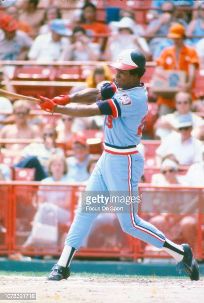 Rod Carew of the Minnesota Twins bats against the Milwaukee Brewers during an Major League Baseball game circa 1976 at Milwaukee County Stadium in...