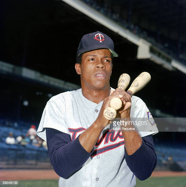 Rod Carew of the Minnesota Twins poses before a game at Yankee Stadium in the Bronx, New York. Rod Carew played for the Minnesota Twins from 1967-78.