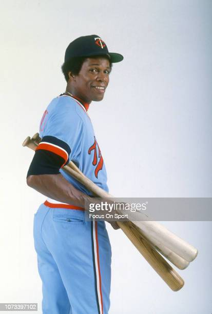 Rod Carew of the Minnesota Twins poses for this portrait during a photo session during Major League Baseball spring training circa 1976 in Fort Myers...