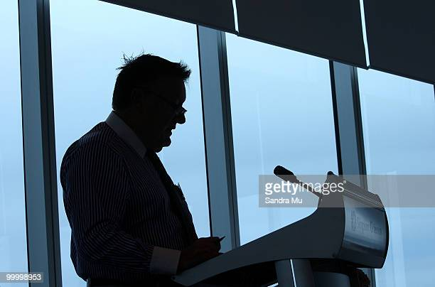 Rod Duke Managing Director of the Brisco Group addresses the shareholders at the Annual General Meeting on May 20 2010 in Auckland New Zealand The...