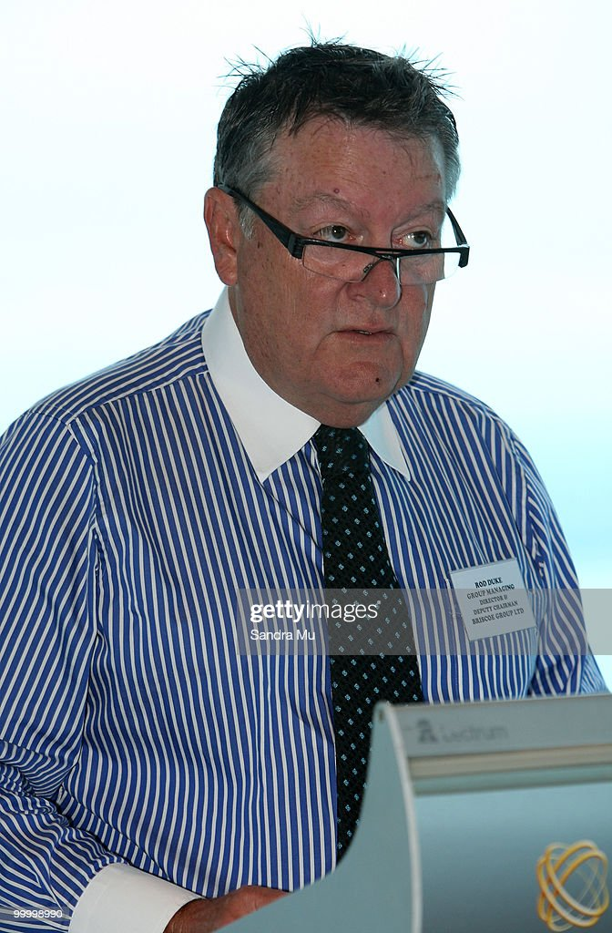 Rod Duke, Managing Director of the Brisco Group addresses the shareholders at the Annual General Meeting on May 20, 2010 in Auckland, New Zealand. The Brisco Group includes Briscoes Homeware, Living & Giving, Urban Loft and Rebel Sport.