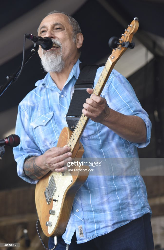 Rod Hodges of The Iguanas performs during the 2018 New Orleans Jazz & Heritage Festival at Fair Grounds Race Course on May 6, 2018 in New Orleans, Louisiana.