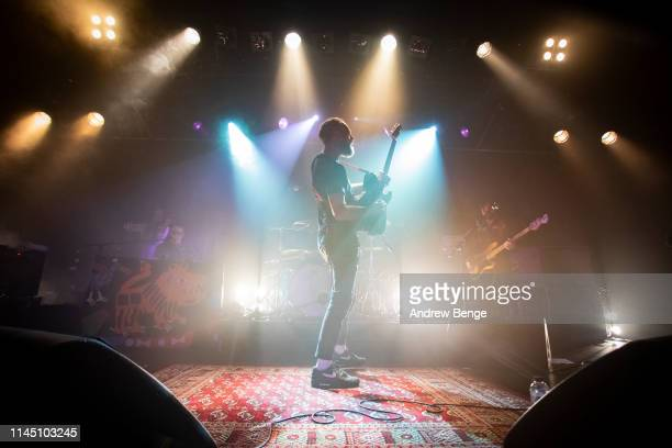 Rod Jones of Idlewild performs on stage at Becketts Student Union on April 25 2019 in Leeds England