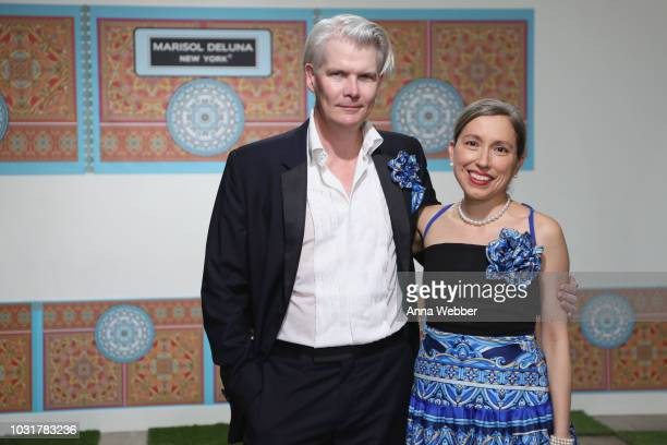 Rod Keenan and Marisol Deluna pose before the Marisol Deluna New York Fashion Week presentation at Tals Studio on September 11, 2018 in New York City.