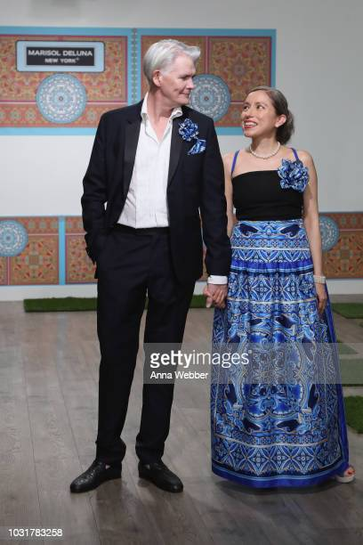 Rod Keenan and Marisol Deluna pose before the Marisol Deluna New York Fashion Week presentation at Tals Studio on September 11 2018 in New York City