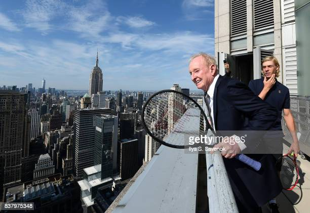 Rod Laver attends Laver Cup Team Announcement on August 23 2017 in New York City