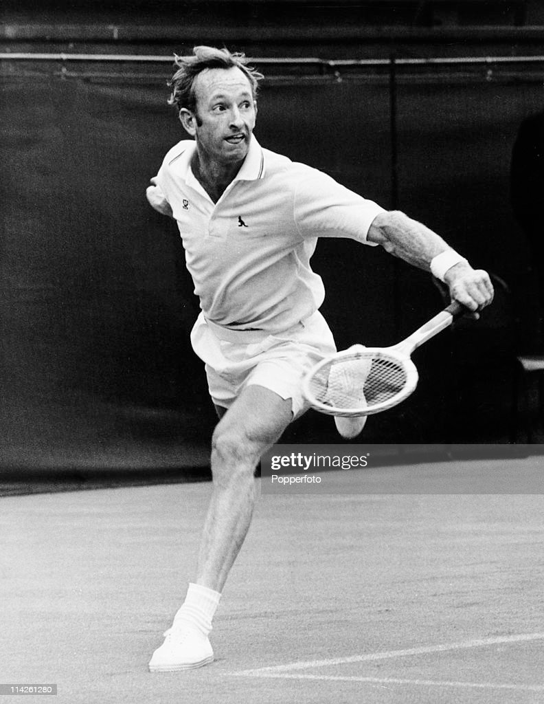Rod Laver on Centre Court at Wimbledon on 24th June 1969.