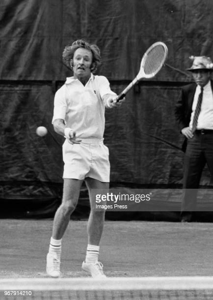 Rod Laver plays tennis circa 1972 in Forest Hills Queens