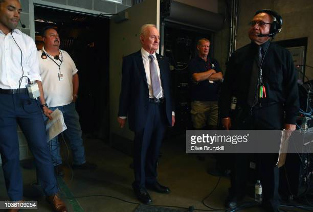Rod Laver waits backstage to be unveiled at the official welcome ceremony prior to the Laver Cup at the United Center on September 19 2018 in Chicago...