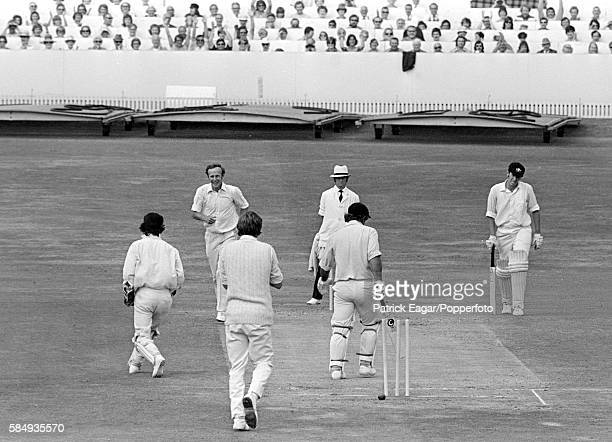 Rod Marsh of Australia is bowled by Derek Underwood of England for 12 runs in the second innings of the 3rd Test match between England and Australia...