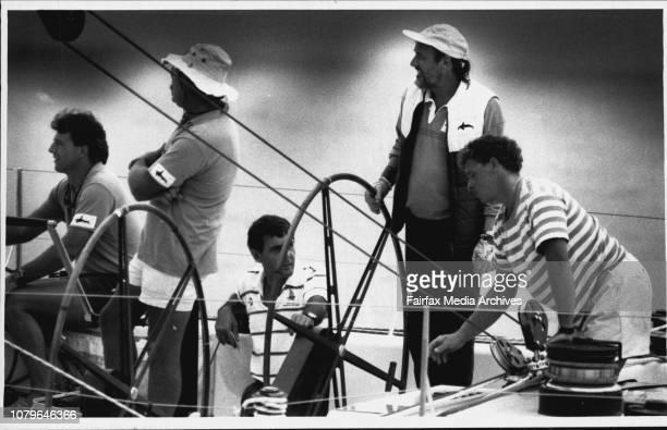 Rod Muir aboard windward passage. March 13, 1980. .
