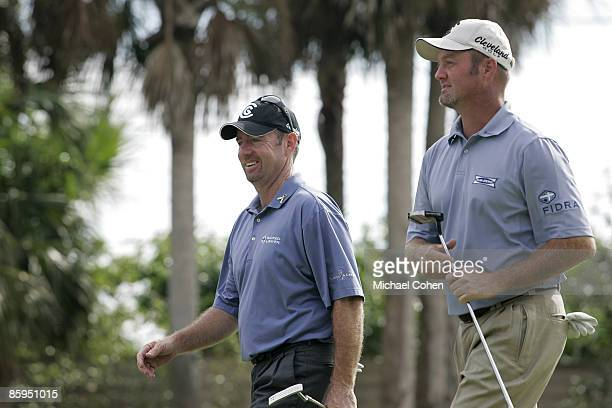 Rod Pampling and partner Jerry Kelly during the third and final round of the Merrill Lynch Shootout at the Tiburon Golf Club in Naples Florida on...