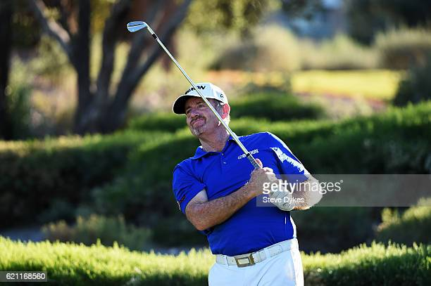 Rod Pampling of Australia plays his shot from the eighth tee during the second round of the Shriners Hospitals For Children Open on November 4 2016...