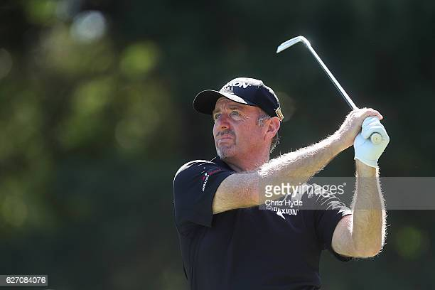 Rod Pampling of Australia tees off during day two of the 2016 Australian PGA Championship at RACV Royal Pines Resort on December 2 2016 in Gold Coast...