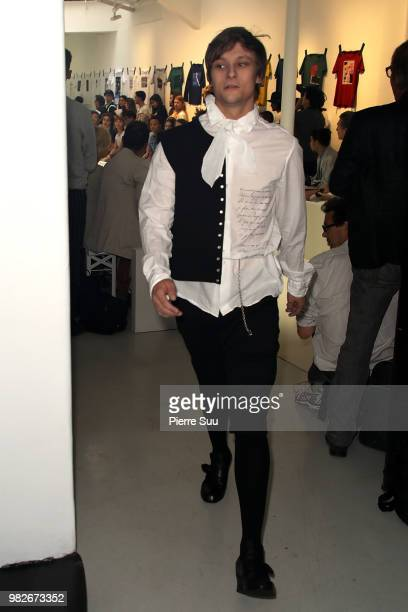 Rod Paradot walks the runway during the Agnes B Menswear Spring/Summer 2019 show as part of Paris Fashion Week on June 24 2018 in Paris France