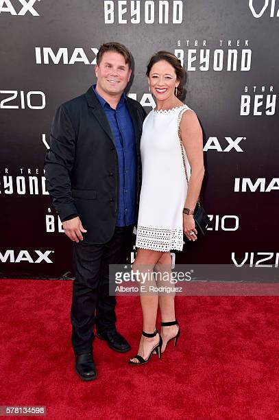 Rod Roddenberry and Heidi Roddenberry attend the premiere of Paramount Pictures' Star Trek Beyond at Embarcadero Marina Park South on July 20 2016 in...