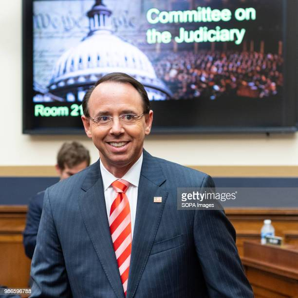 Rod Rosenstein United States Deputy Attorney General at the House Judiciary Committee in the Rayburn Building at the US Capitol