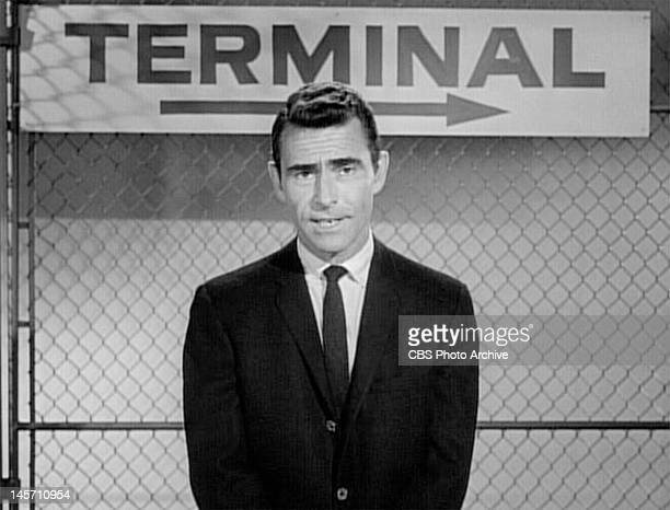 Rod Serling host and narrator of The Twilight Zone 'Nightmare At 20000 Feet' episode of The Twilight Zone Initial television broadcast on October 11...